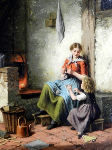 Jan Walraven  - The Knitting Lesson
