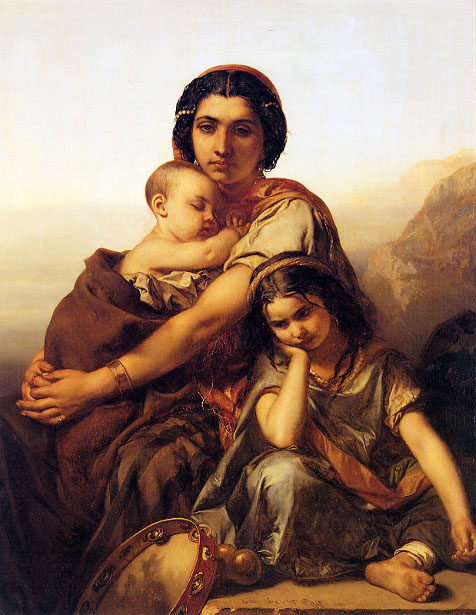 A Gypsy With Two Children