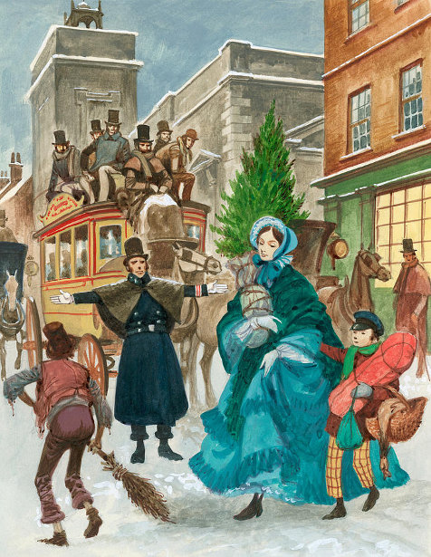 Peter Jackson - Victorian Christmas Scene