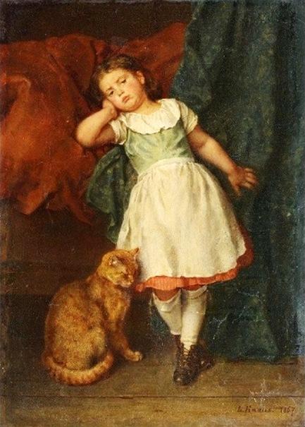 Ludwig Knaus 1829 1910 German I Am A Child