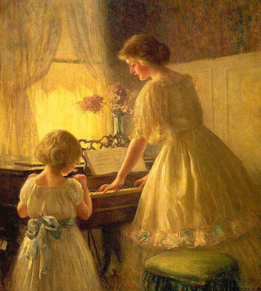 >>>El dia a dia de ayer y de hoy en la pintura>>> The-piano-lesson