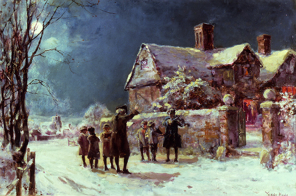 لوحات تشكيليه للفنان العالمي Henry John Yeend-King Twas-the-night-before-christmas