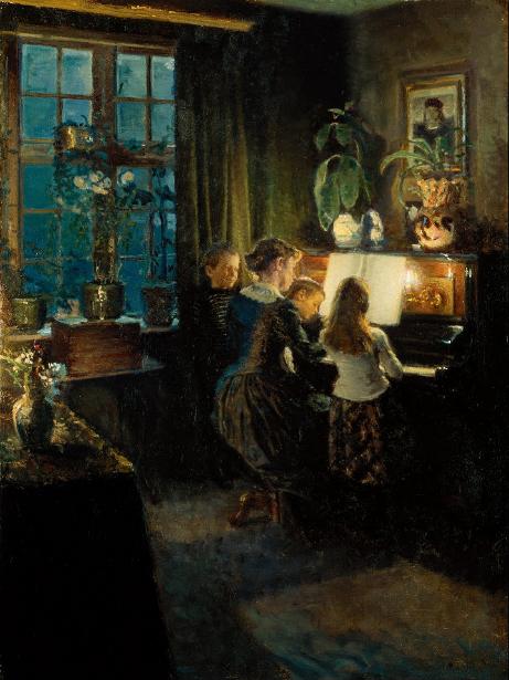 Viggo Johansen - The Artist's Wife And Children