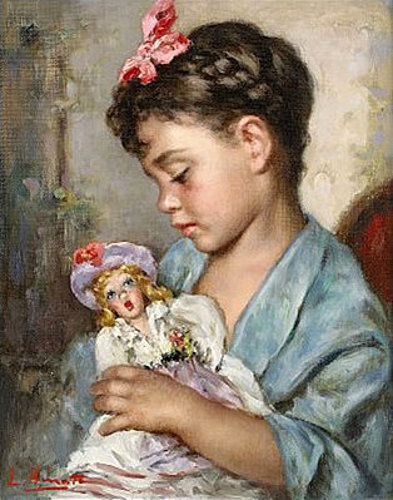 Doll with girl-8916