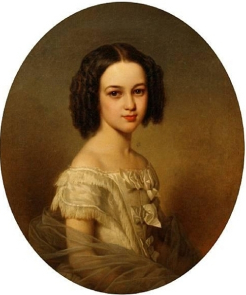 A Young Girl, thought to be Madeline Gillmer, future Baroness de Lespinasse de St Eon