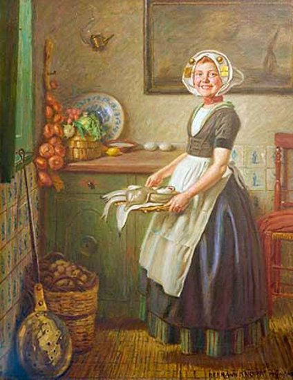 Interior Kitchen Maid knopf hermann i am a child dutch kitchen maid