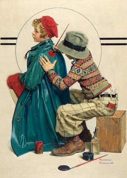 Norman Rockwell 1894 1978 American I Am A Child