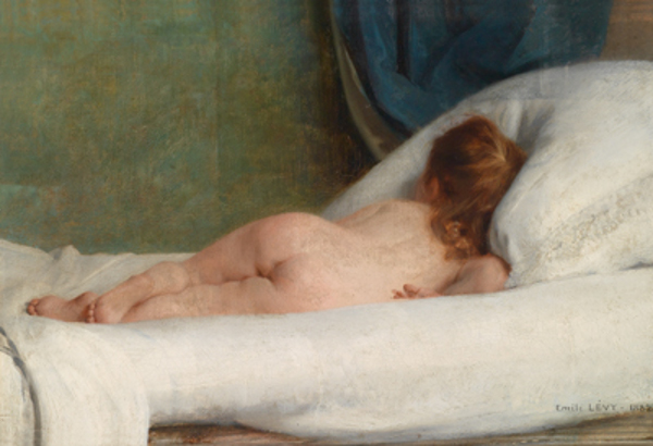 Nude Girl Lying On A Bed