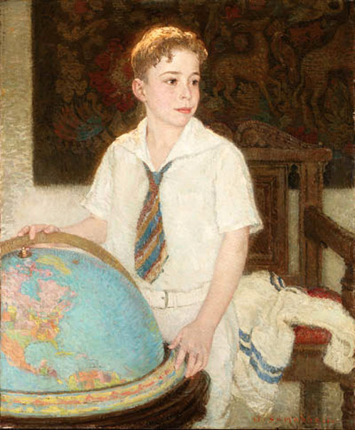Young Boy With Globe
