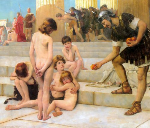 Charles W. Bartlett - Captives In Rome