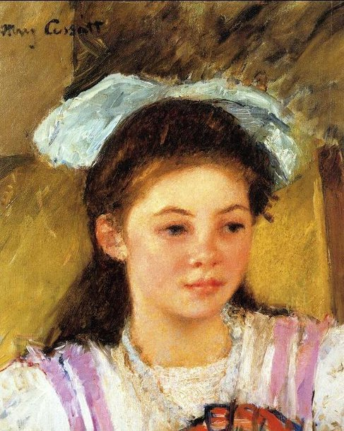 Ellen Mary Cassatt With A Large Bow In Her Hair
