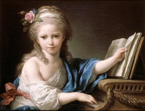 Joséphine, fille de Bergeret de Grancourt, touchant le piano-forte