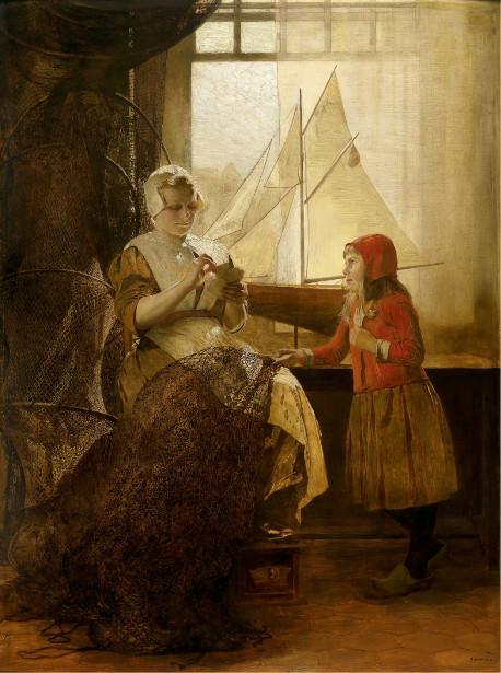 dutch-fisherwoman-with-child