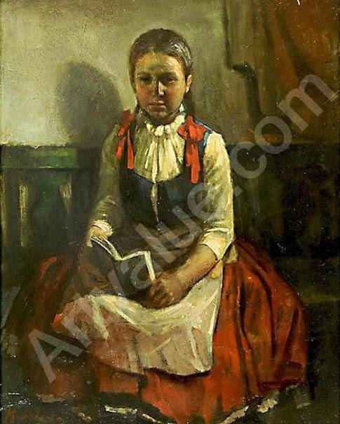 L.Markos - Young Girl Reading