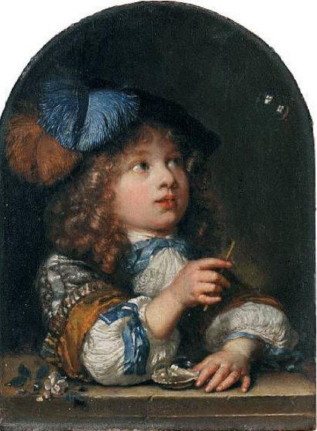 Caspar Netscher 1639 1684 Dutch I Am A Child