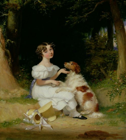 A Girl With Her Spaniel