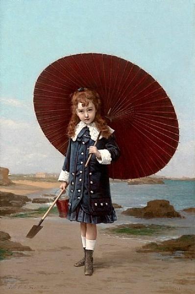 Jules-Emile Saintin (1829 – 1894, French) | I AM A CHILD