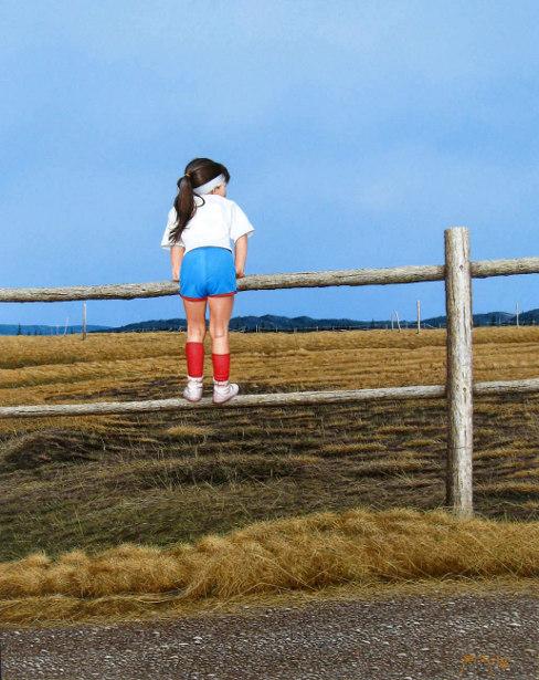 Maria On Fence
