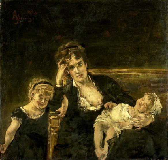 Alfred Stevens (1823 – 1906, Belgian)   I AM A CHILD