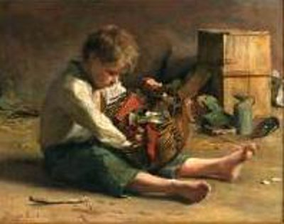 Seated Child With A Basket