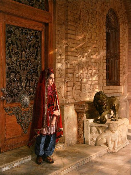 A Girl On Golestan Palace
