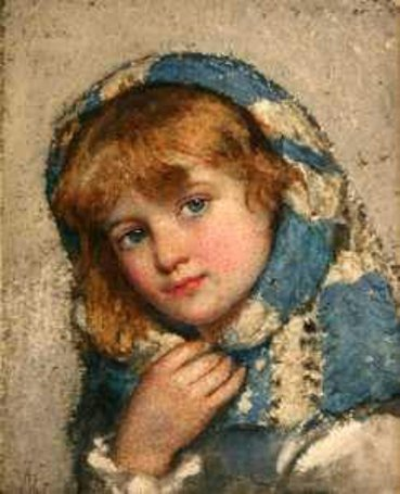 A Girl Wearing A Shawl