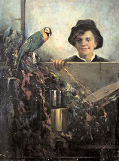 Fanciullo e pappagallo