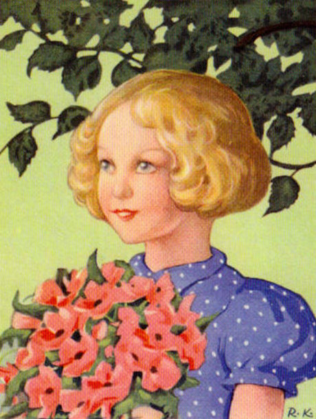 Girl And Bouquet
