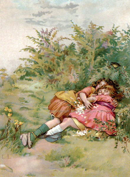 Girls Asleep In The Meadow