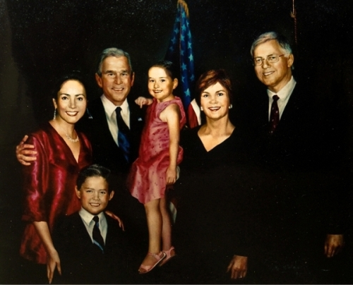Michael Antonovich Family With George And Laura Bush