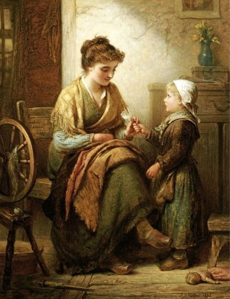 The Dropped Stitch.  Alfred Fowler Patten (1829-1888).  Oil On Canvas, 1893.