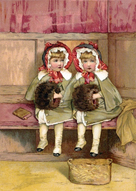 Two Girls With Muffs