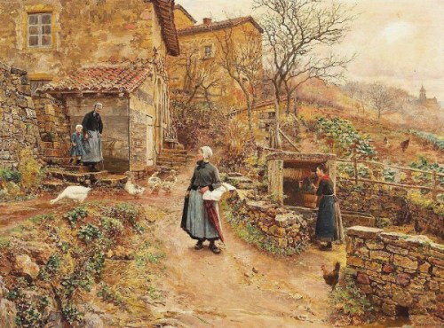 Young Peasant Girl On Her Way To The Market