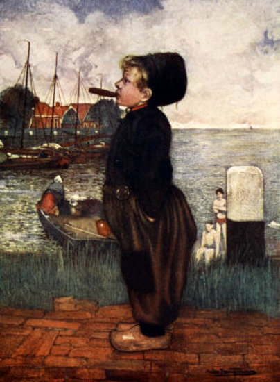 A Boy Smoking, Volendam