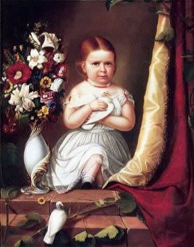 A Child In A White Dress