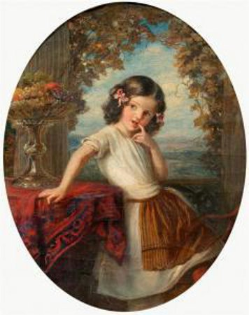 A Young Girl - Italian Girl With Hair Loops