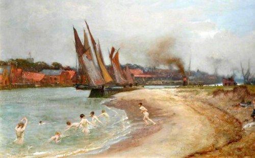Boys Bathing At Sandy Hook, Great Yarmouth, Norfolk