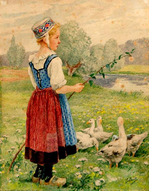 Gardienne d'oie