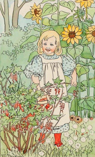 Girl By The Bush