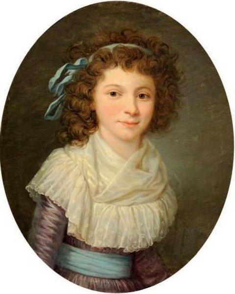 Jeune fille en corsage de linon