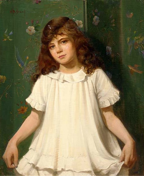 Portrait Of A Girl In A White Dress