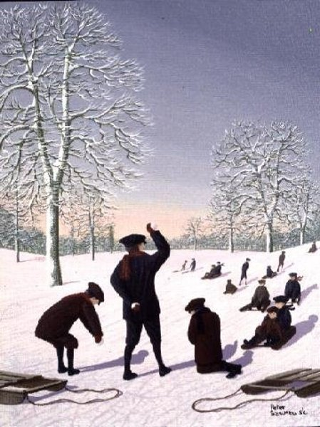 Snowballs And Sledging