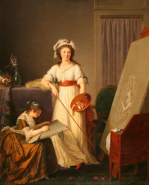 The Atelier Of A Woman Painter (Madame Vigée-Le Brun and her pupil)