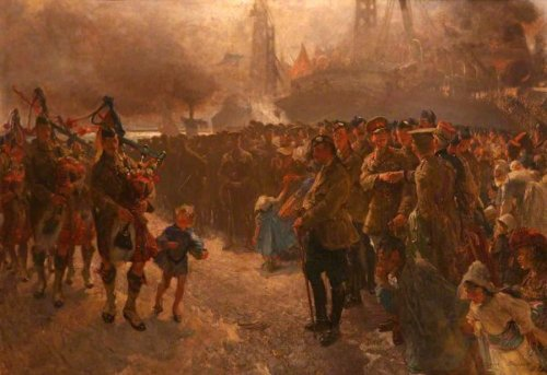 The Landing Of The First Canadian Contingent At Saint-Nazare, France
