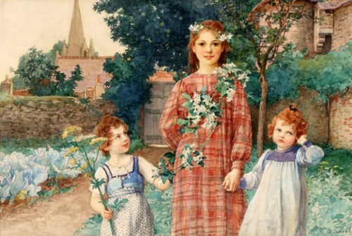 Three Sisters In A Walled Garden