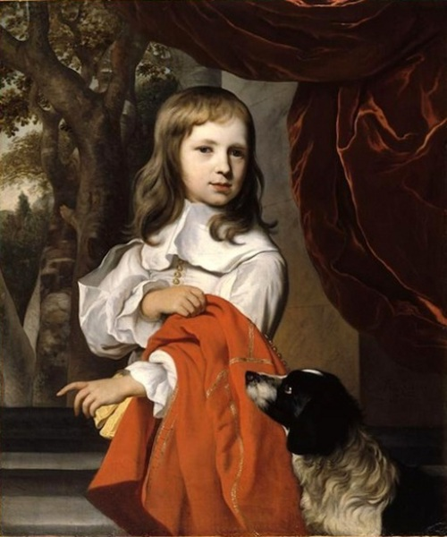 A Young Boy With Dog