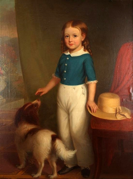 A Young Boy With His Dog