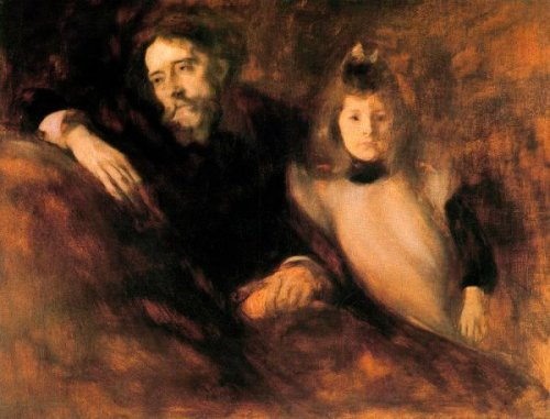 Alphonse Daudet And His Daughter