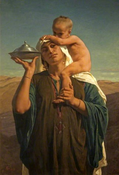 Bedouin Mother And Child - Afterglow