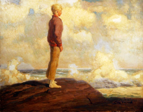 Boy On Rocks